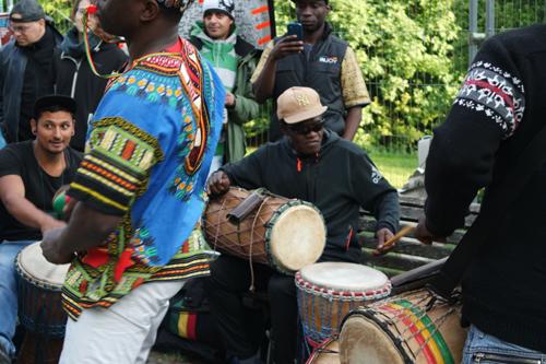 Guinea3 in Karneval 2016 am Sonntag in Berlin